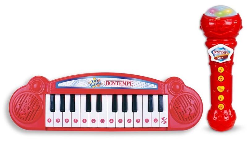 BONTEMPI - Detské klávesy s mikrofónom