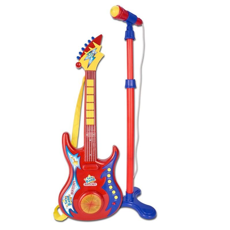 BONTEMPI - Elektrická gitara s mikrofónom a stojanom 247020