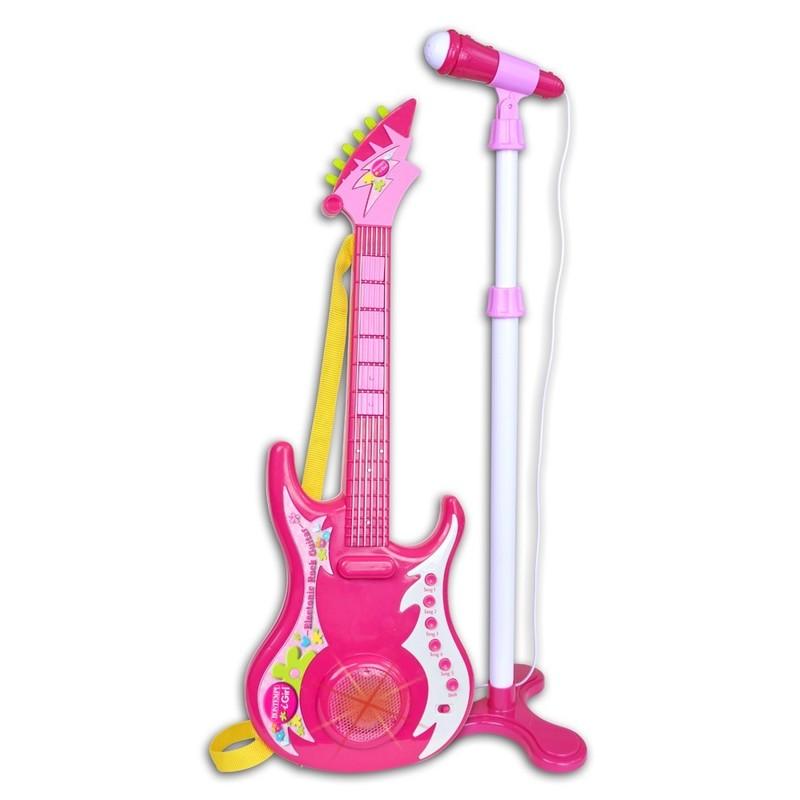 BONTEMPI - Elektrická gitara s mikrofónom a stojanom 247071