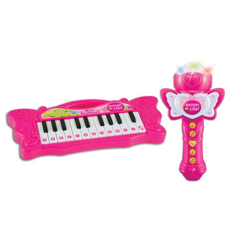BONTEMPI - mini piáno s karaoke mikrofónom 602171