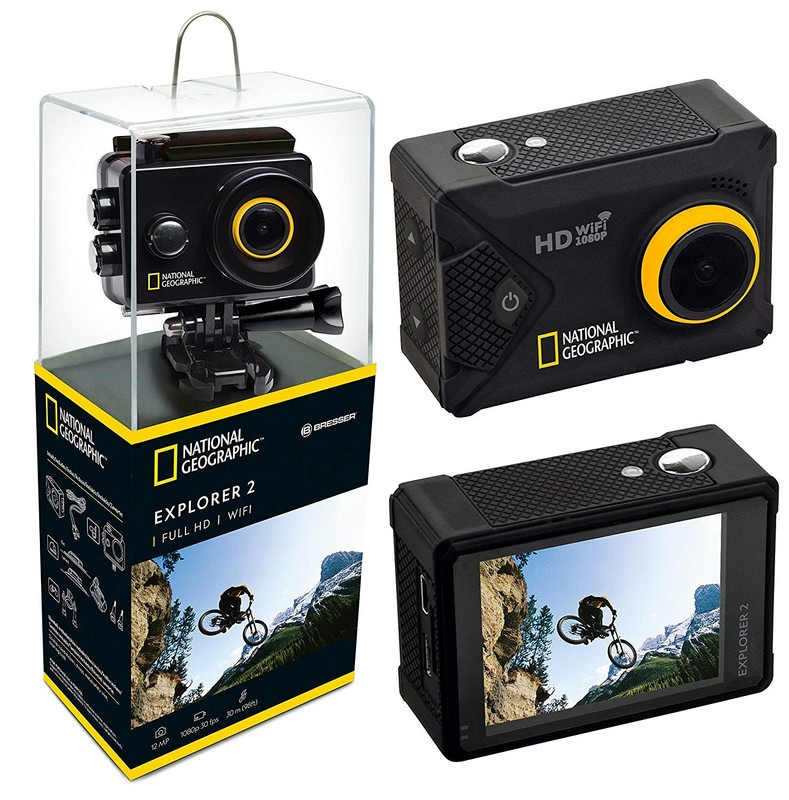 BRESSER - National Geographic Kamera Full HD Wifi Action Explorer 2