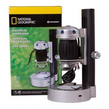 BRESSER - National Geographic Univerzálny mikroskop 20x/200x