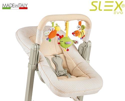 BREVI - Slex Evo 223 Polohovateľné sedátko na kŕmenie k stoličke