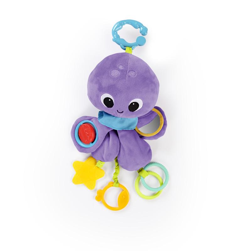 BRIGHT STARTS - Hračka na C krúžku Twirly Whirly chobotnička 0m+