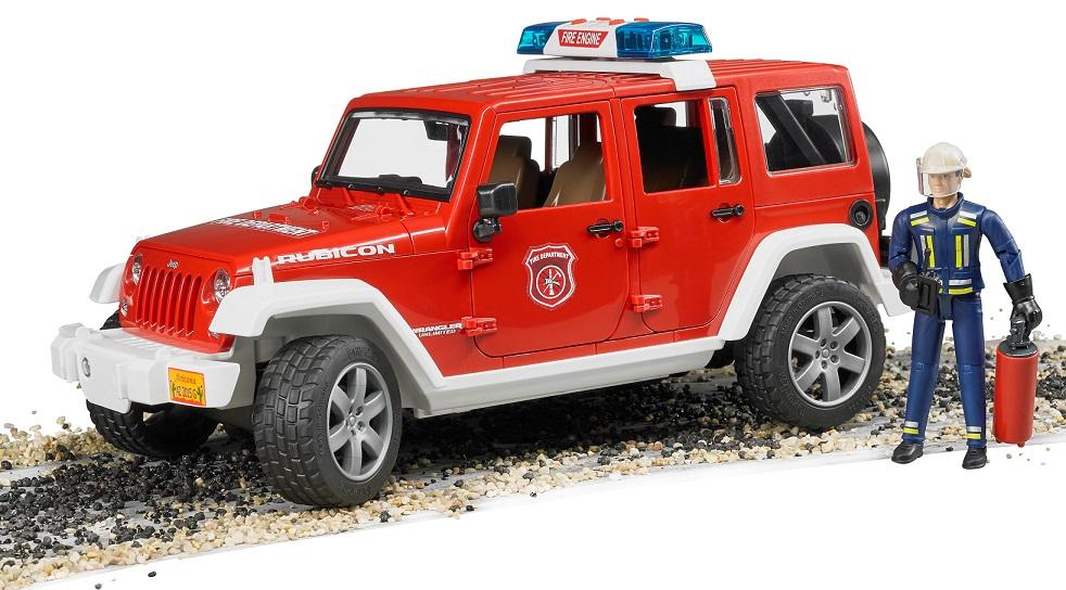 BRUDER - 02528 Jeep Wrangler Požiarnici s figúrkou