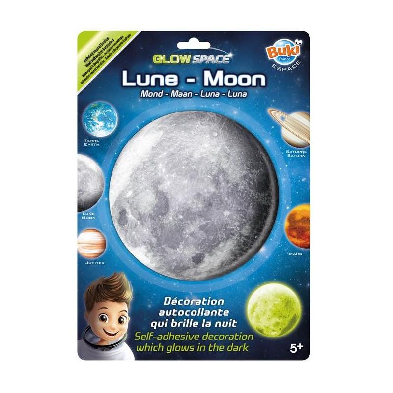 BUKI - Mesiac nálepka svietiaca v tme