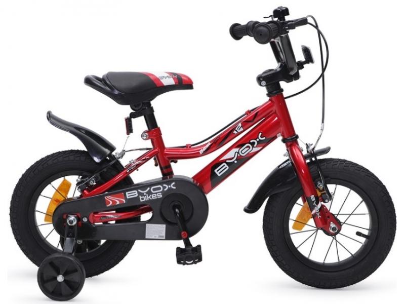 BYOX - Detský bicykel Prince 12, červený