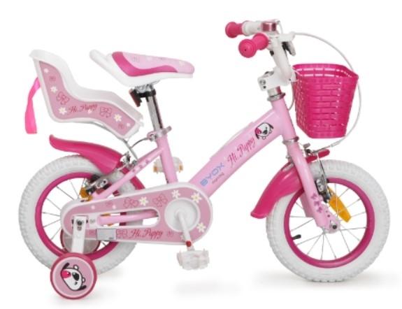 BYOX - Detský bicykel Puppy 12, ružový