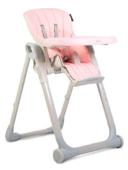 CANGAROO - Detská jedálenská stolička I Eat - ružová