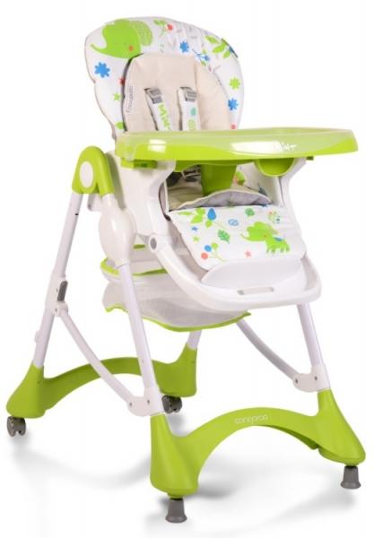 CANGAROO - Detská jedálenská stolička Mint - zelená