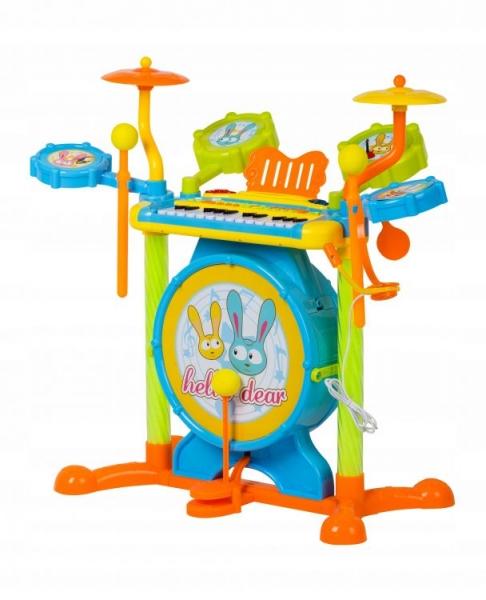 CANHUI TOYS - Multistory Plastová bicia sada s klavírom + stolička