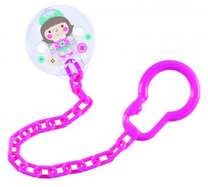 CANPOL BABIES - Retiazka na cumlík Toys - ružová