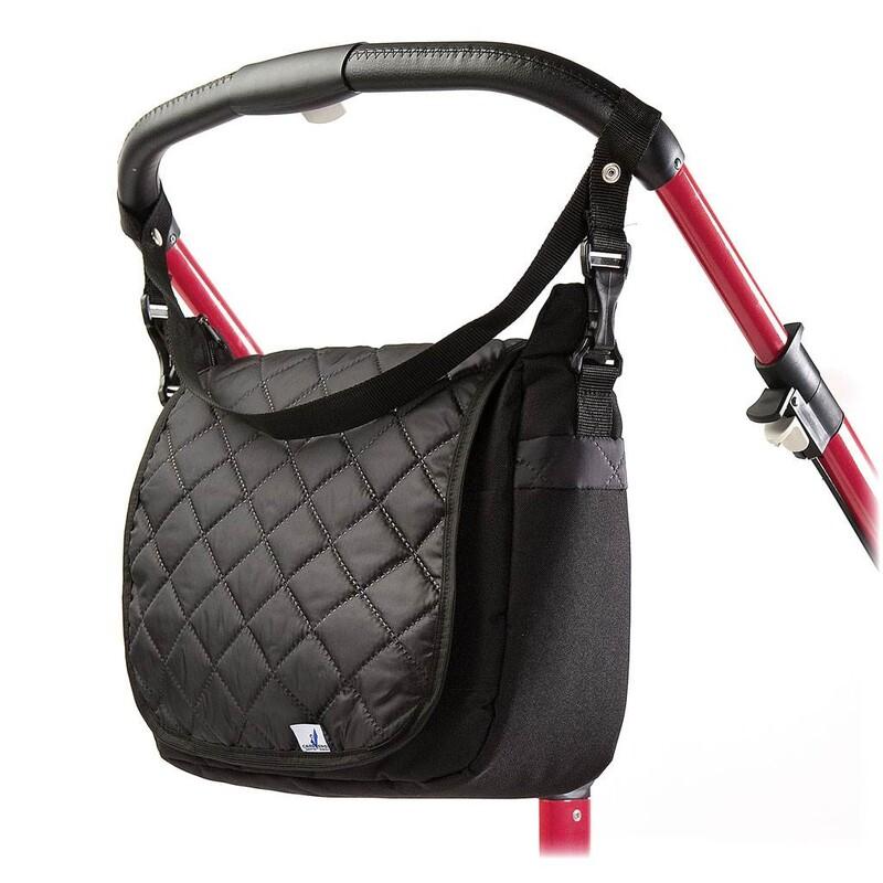 CARETERO - Prešívaná taška na kočík black