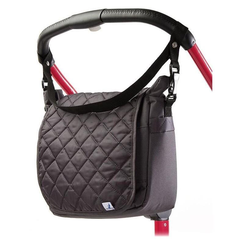 CARETERO - Prešívaná taška na kočík graphite