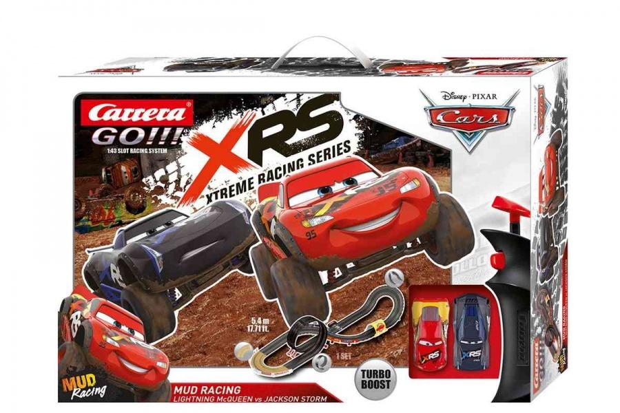 CARRERA - Autodráha Carrera GO 62478 Cars - Mud Racing, Dĺžka trate: 5,4m. Rozmery po zostavení: 192 x 60cm