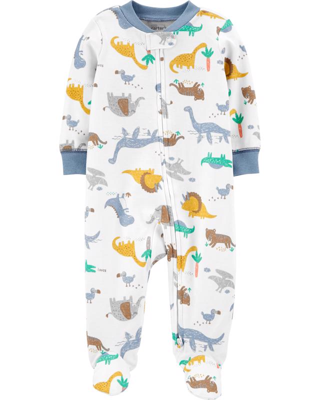 CARTERS - Overal zips Dinos chlapec NB
