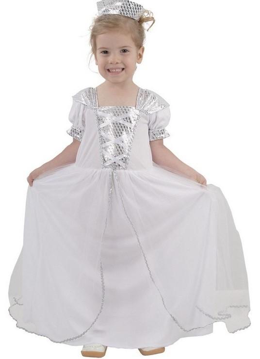 CASALLIA - Karnevalový kostým Malá biela princezná