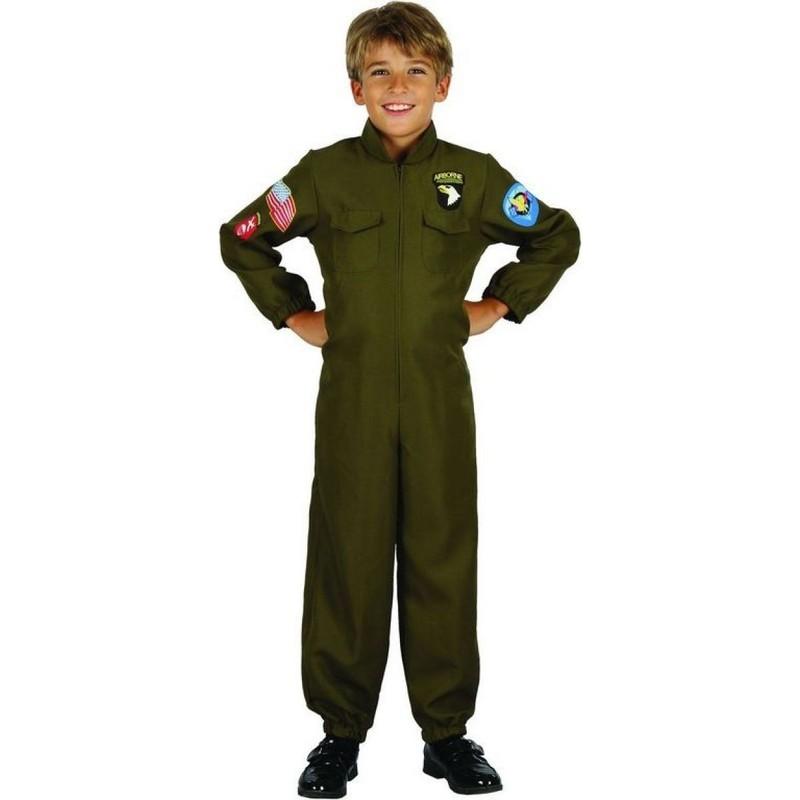 CASALLIA - Karnevalový kostým Pilot s nášivkami L