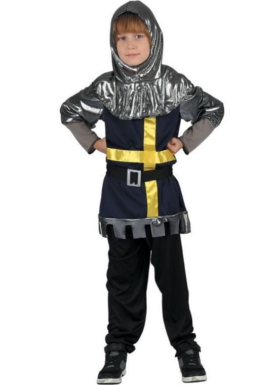 CASALLIA - Karnevalový kostým Rytier s kapucou - L