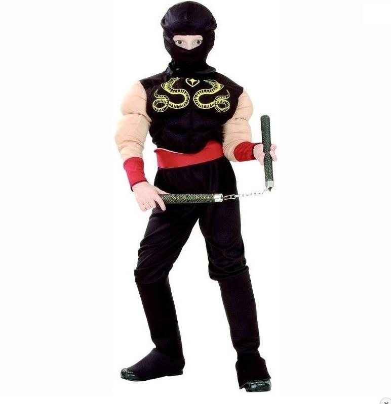 CASALLIA - Karnevalový kostým Svalnatý Ninja S