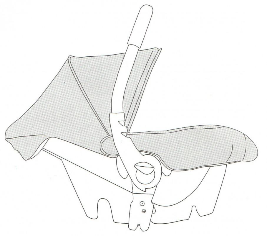 CASUALPLAY - Náhradný diel - strieška a nánožník na Baby 0+ (čierna 631)