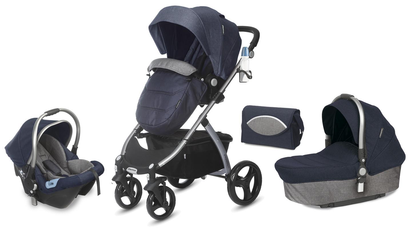 CASUALPLAY - Playxtrem Skyline Set športový kočík, autosedačka 0-13 kg, vanička a prebalovacia taška - Jeans