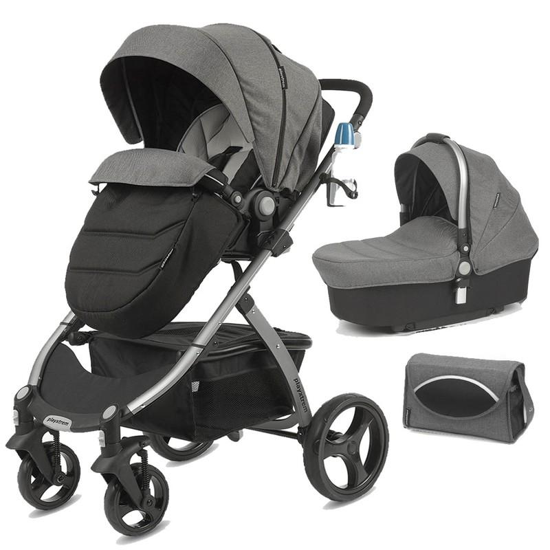 CASUALPLAY - Playxtrem Skyline Set športový kočík, vanička a prebalovacia taška - Eclipse (Grey)