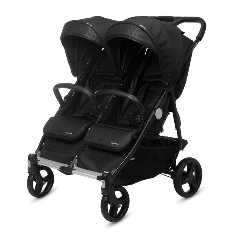 CASUALPLAY - Playxtrem Športový kočík pre dvojičky Baby Twin - Irongate (Black)