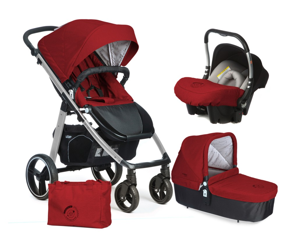 CASUALPLAY - Set kočík LOOP Aluminium, autosedačka Baby 0plus, vanička Cot a Bag 2017 - Indian