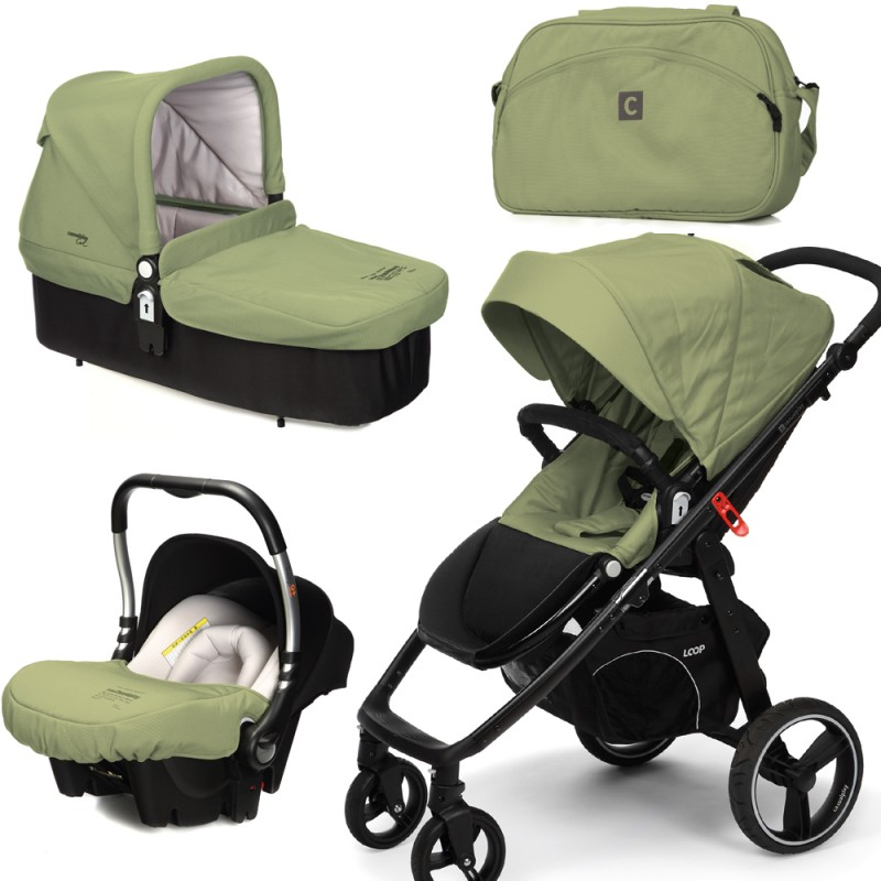 CASUALPLAY - Set kočík LOOP, autosedačka Baby 0plus, vanička Cot a Bag 2015 - GRAPE