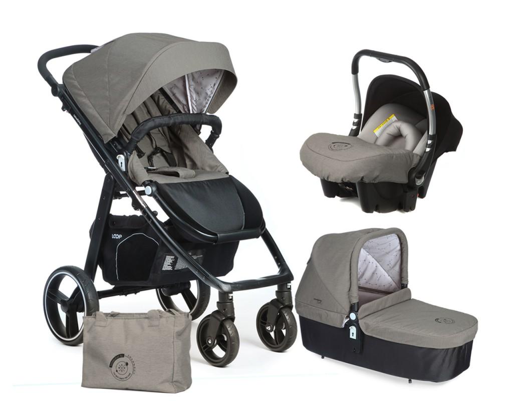 CASUALPLAY - Set kočík LOOP, autosedačka Baby 0plus, vanička Cot a Bag 2017 - Jet