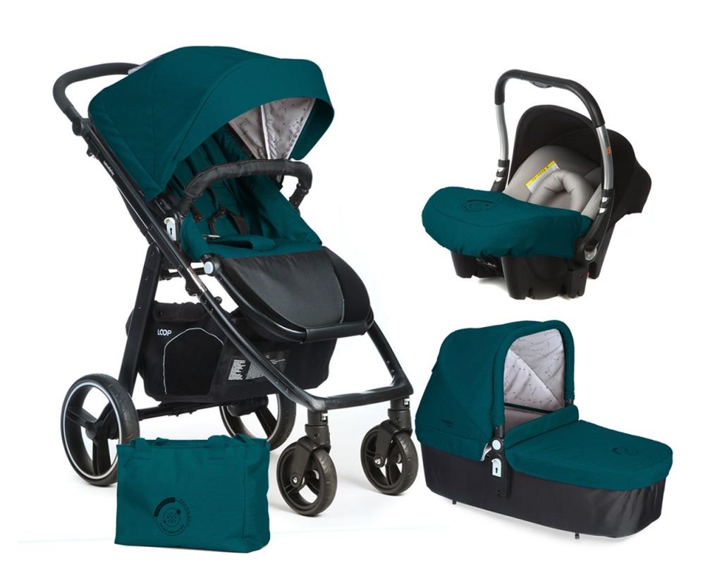 CASUALPLAY - Set kočík LOOP, autosedačka Baby 0plus, vanička Cot a Bag 2017 - Capri