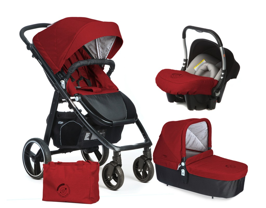 CASUALPLAY - Set kočík LOOP, autosedačka Baby 0plus, vanička Cot a Bag 2017 - Indian