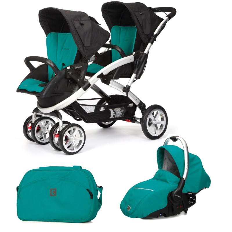CASUALPLAY - Set kočík pre dvojičky Stwinner, 2 x autosedačka Sono a Bag 2015 - ALLPORTS