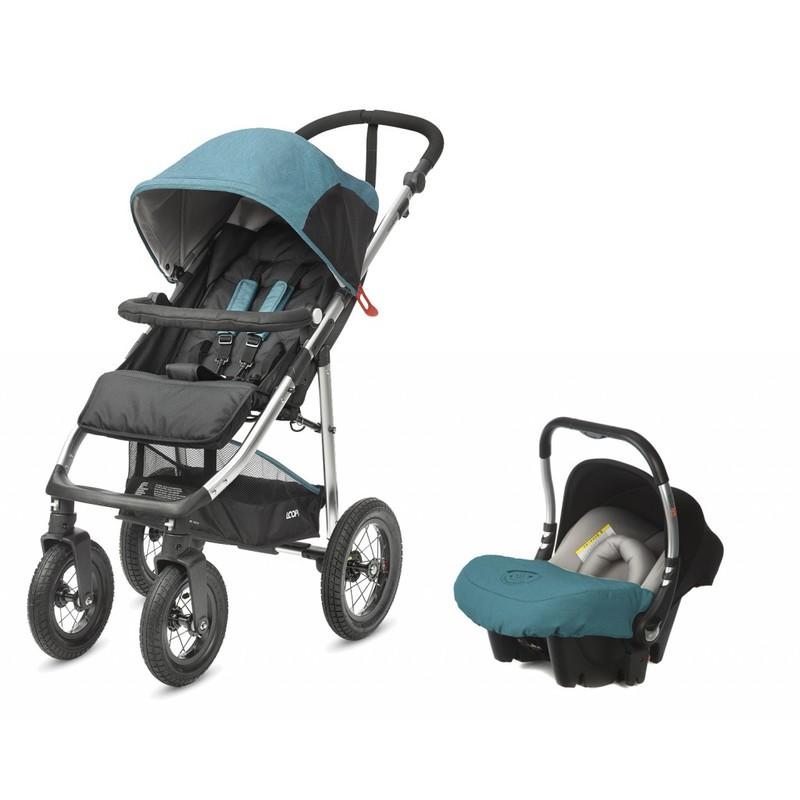 CASUALPLAY - Športový kočík LOOPi ALL ROAD 2018 a autosedačka Baby 0 plus - Capri