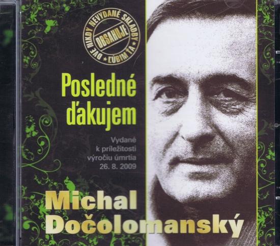 CD-Posledné ďakujem - Michal Dočolomanský - Dočolomanský Michal