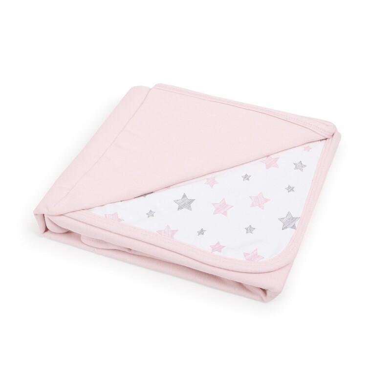 CEBA - Deka detská 90x100 Candy pink+Pink Stars
