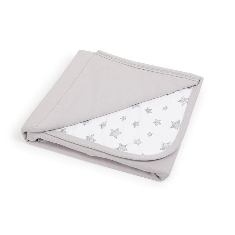 CEBA - Deka detská 90x100 Light grey+Grey Stars