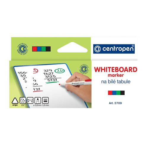 CENTROPEN - Popisovač 2709 Whiteboard - sada 4 ks