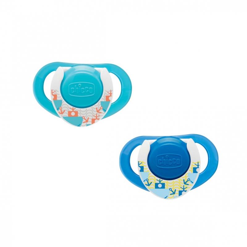 CHICCO - Kaučukový cumlík Physio 12+, modrý, 2ks