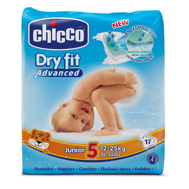 CHICCO - Plienky Junior 17 ks (12-25 kg) - jednorazové plienky