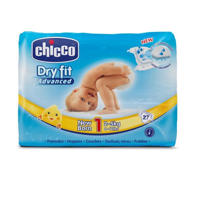 CHICCO - Plienky Newborn 27 ks (2-5 kg) - jednorazové plienky