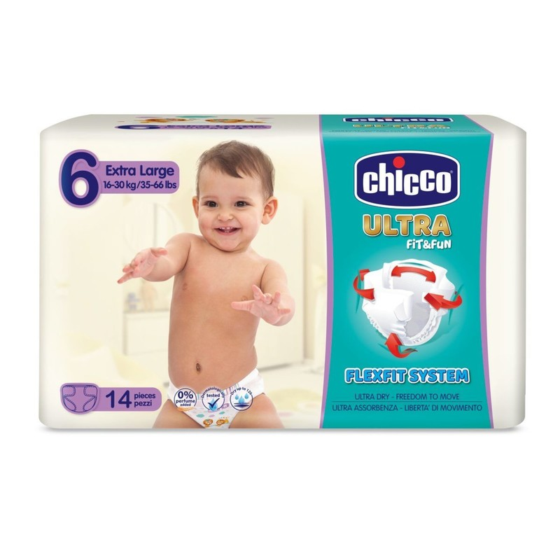 CHICCO - Plienky Ultra Extra Large 16-30kg 14ks