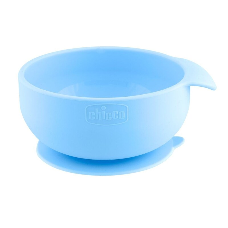 CHICCO - Silikónová miska s prísavkou modrozelená 6 m+