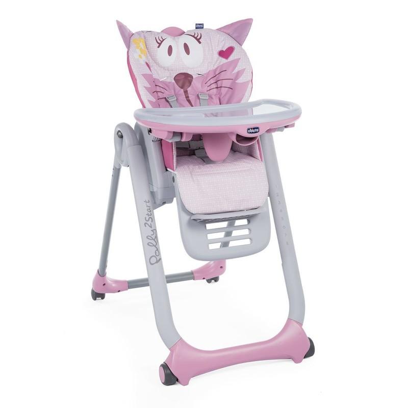 CHICCO - Stolička jedálenská Polly 2 Start - Miss Pink