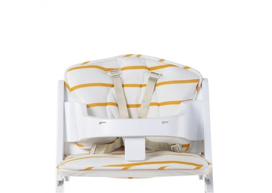 CHILDHOME - Sedacie vankúšiky do rastúcej stoličky Jersey Ochre Stripes