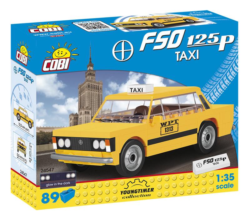 COBI - 24547 Youngtimer FSO 125p TAXI 1:35
