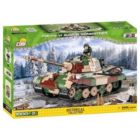 COBI - II WW Panzer VI Tiger Ausf. B Konigstiger, 1000 k, 2 f