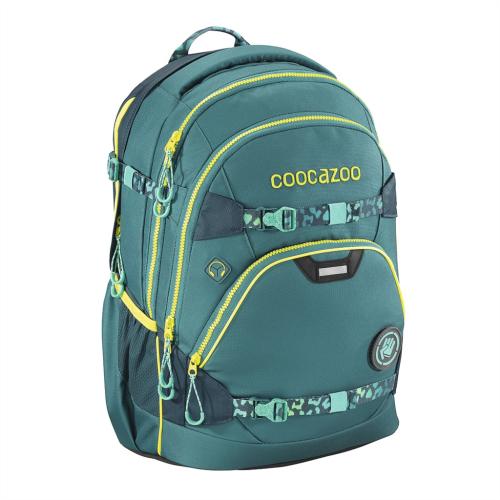 COOCAZOO - Školský ruksak e-ScaleRale s elektronicky nastaviteľným bed. popruhom, Petrol, AGR