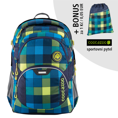 COOCAZOO - Školský ruksak JobJobber, Lime District+ BONUS ŠPORTOVÝ VAK za 0,05 EUR